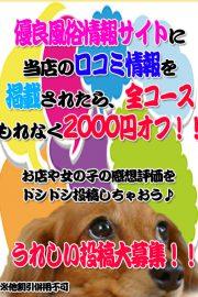 クチコミ投稿で 2,000円OFF